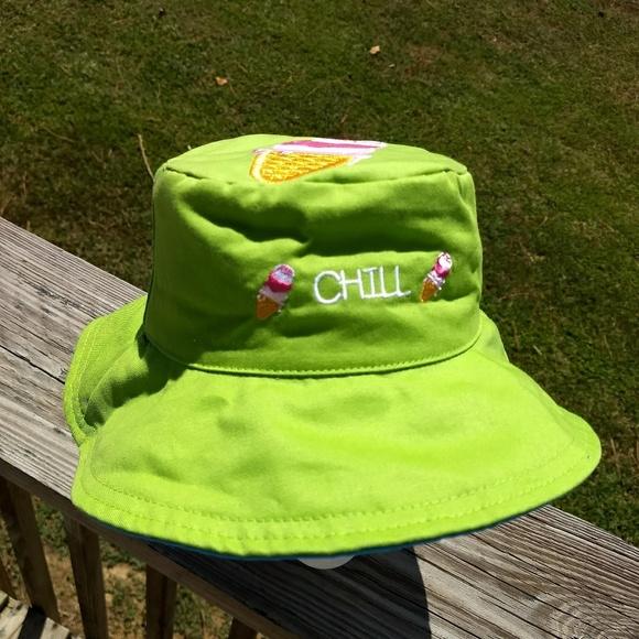 29f09f919 Flapjack kids floppy sun hat 0-4 yrs NWT reversibl NWT
